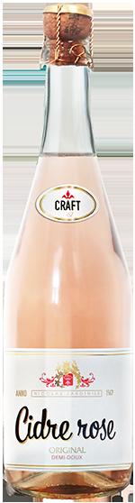 "Cidre de pomme demi-doux rose ""Nicolas Jardinier Craft"""